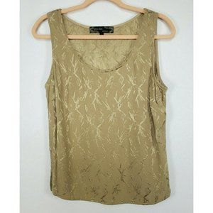 Spencer Alexis Women tops sz L tan embroidered